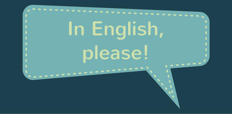 A kako se to kaže na engleskom?